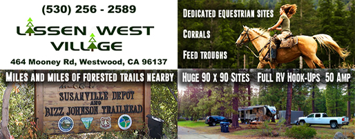 Lassen West Village Camping and Horse Trails